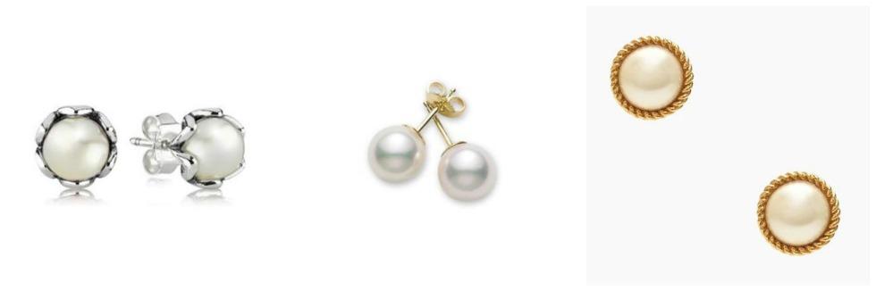 pearl earrings pandora mikimoto kate spade
